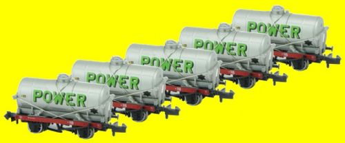 373-675Z(5 Pack) Osborns/Farish Exclusive: 14 Ton Tank Wagon With Large Filler 'Power'